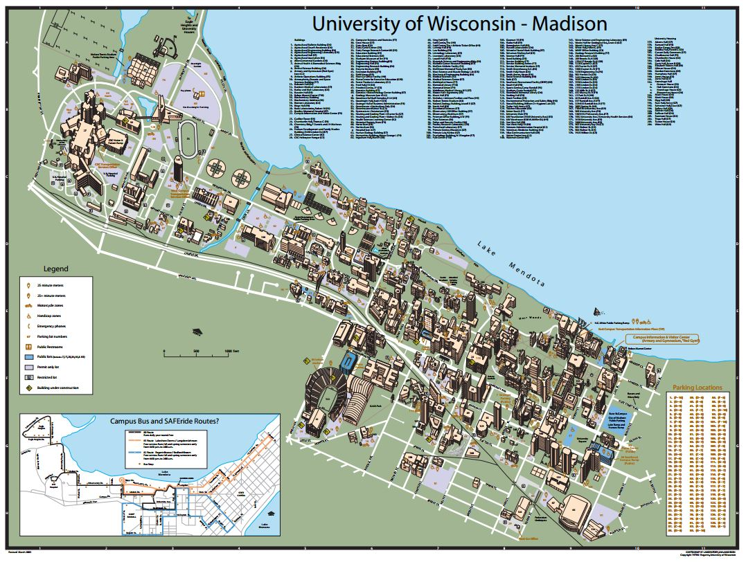 UW Madison Map | Normandy Apartments